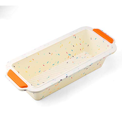 FUZHEN Silicone Loaf Pan,Non-stick Loaf Mould,Homemade Baking Cakes and Bread,BPA Free
