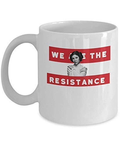 N\A Póster Somos The Resistance Princess Leia Coffee Mug Cup (White) Feminist Woman 's Rights Star Wars Princess Leia Gift Merchandise Accesorios Camisa