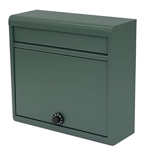 【Amazon.co.jp 限定】グリーンライフ(GREEN LIFE) 郵便ポスト 薄型スチールポスト ダイヤル錠 FH-614D(MGR) A4封筒が入る 奥行14.0×高さ35.0×幅37.0cm マットグリーン