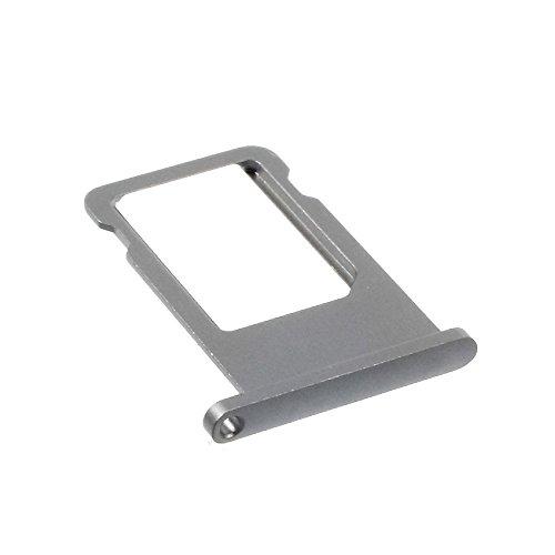 jbTec SD-Card/SIM-Tray/Halter passend für Apple iPhone 6s - Slot Karte Schlitten Rahmen Holder Handy Card Ersatz Fach, Farbe:Grau
