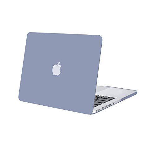 MOSISO Funda Dura Compatible con MacBook Pro 13 Retina A1502 / A1425 (Versión 2015/2014/2013/fin 2012), Ultra Delgado Carcasa Rígida Protector de Plástico Cubierta,Gris Lavanda