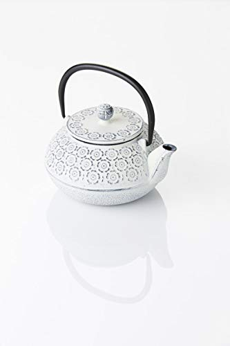 A'Domo PV-GIF-6403 Point-Virgule Teapot with Filter, Cast Iron, Silver