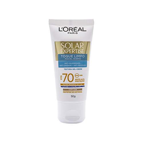 Protetor Solar Facial com Cor Toque Limpo FPS 70 50g, L'Oréal Paris