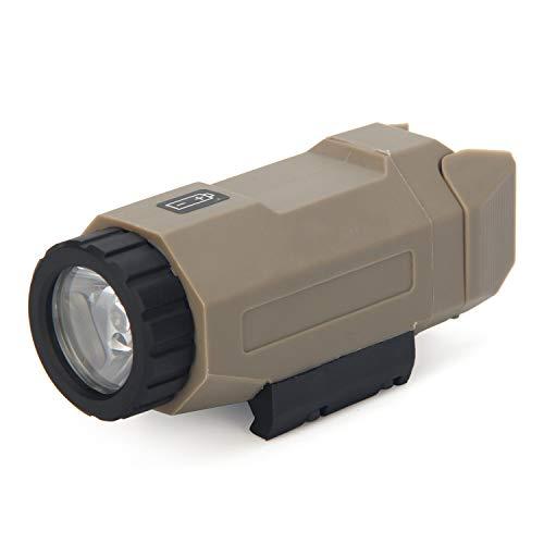 Element Airsoft APL - Linterna militar táctica con función estroboscópica, 160 lúmenes LED XPG-R5, alcance de iluminación 100 m, compatible con rieles Picatinny y Glock