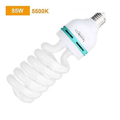 RALENO 85W Fotolampe Fotoleuchte Tageslichtlampe Glühlampe Dauerlicht Energiesparlampe E27 Birne für Fotostudio Studioleuchte