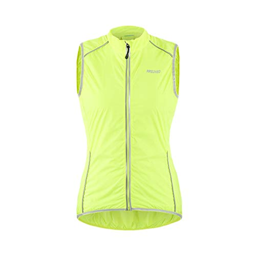 ARSUXEO - Chaqueta deportiva para mujer (talla L), color verde