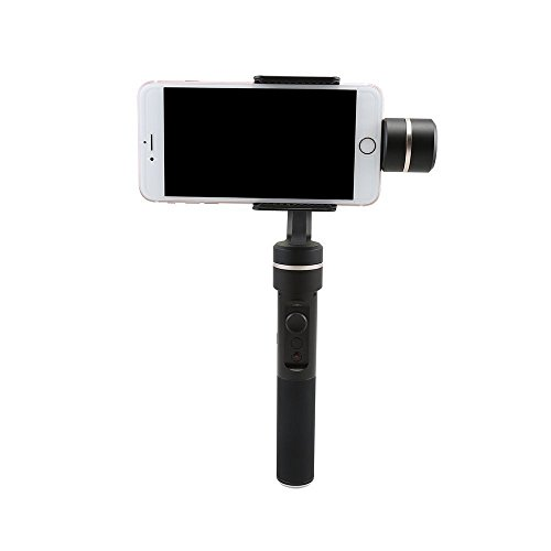 Feiyu SPG (2pcs batteries) 360° Bluetooth face tracking 3-Axis Handheld Gimbal for Gopro Hero 3 3+ 4 5 iPhone 6 plus, 6, 5S, 5C, SAMSUNG Galaxy S6 edge, S6, S5, Note 4, Motorola,Sony Blackberry