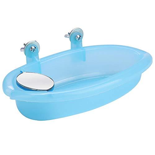Junluck Caixa de banho para gaiola de pássaros, caixa de banho pequena acessório para pássaros, gaiola de banho pendurada, para noivas de animais de estimação para canários