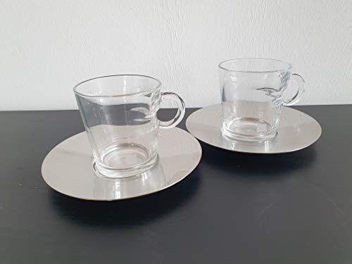 Nespresso 2er Set Lungo Tassen der VIEW Serie Kaffee Tee Kakao Tassen aus Glas