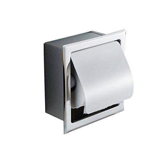 vinmax soporte de pared toalla de papel soporte para hogar cocina–Mueble bajo de baño dispensador de papel higiénico, acero inoxidable