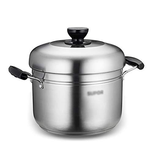 De Acero Inoxidable 304 De Vapor/Stock Pot, 2-capa Olla De Cocina, 22cm, Cocina Vapor Multifuncional, Adecuado For La Estufa De Gas/Cocina De Inducción Ollas