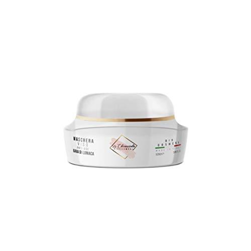 La Chiocciola Maschera Viso Antirughe con Bava di Lumaca, Purificante, Idratante. Made in Italy, 50 ml