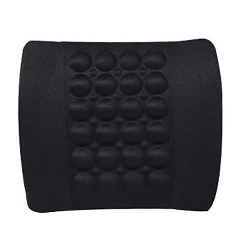 SNOWINSPRING Schwarzes Auto Elektrische Massage Lenden Kissen Vibration Gesundheit Pflege Lenden Kissen Weicher RüCken UnterstüTzung Baumwolle Schmerzlinderung Tragbarer Heim Stuhl