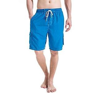 MAIJIE Mens Swim Trunks Board Short Printed Beach Short Swimwear Quick Dry with Mesh Lining