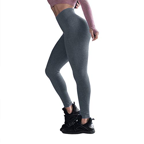 Mdsfe Naadloze hoge taille sneldrogende broek fitness yoga broek joggingbroek mode dames panty Large C-a8441