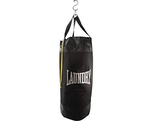 Bad Company Boxing Bag - Saco de boxeo (diámetro: 34 cm, altura: 79-120 cm, incluye mosquetón y correa), color negro