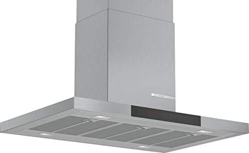 Bosch DIB97JP50 Serie 6 Inselhaube / A / 90 cm / Edelstahl / wahlweise Umluft- oder Abluftbetrieb / DirectSelect Bedienung / Silence / Intensivstufe / Metallfettfilter (spülmaschinengeeignet)