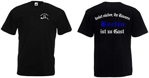 world-of-shirt Herren T-Shirt Berlin Ultras kniet nieder