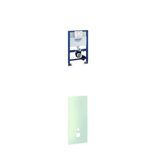 GROHE Rapid SL Installationssystem für Wand-WC, 0,82 m 38526000 + GROHE Rapid SL Verkleidung für Wand WC Bauhöhe 113cm, 38636001