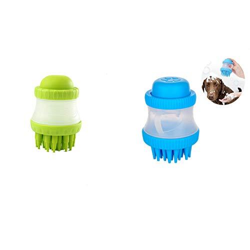 QACFD 2 Stück Haustier Reinigungsbürste Massagebürste Waschhund Katze Katze Bad Dusche Bad Schmutz Werkzeug Handheld Zubehör Weiche Silikon Staubreiniger