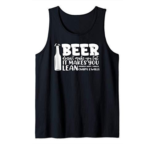 Bier macht dich nicht fett Es lehnt dich an Riegel Tank Top