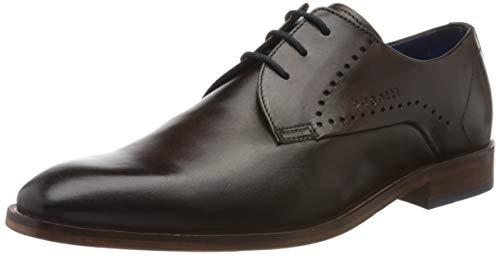 bugatti 312856021100, Zapatos de Cordones Derby Hombre, Marrón (Brown 6000), 43 EU