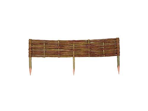 Damian-Wiklina Wicker Garden Bed Border Fencing - 10cm high - Made in EU - 100 cm length
