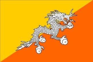 1000 Flags Bhutan-Flagge, 150 x 90 cm