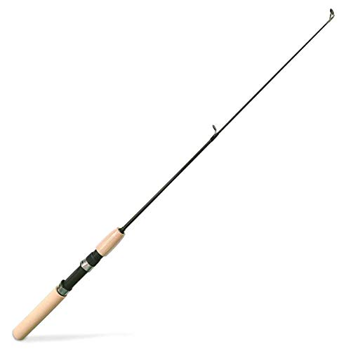 Ice Fishing Pole, Kids Fishing Pole, Good Little Ultra Light Fishing Rod Combo Perfect Size for Ice Fishing, Mini Fishing Pole and Ultralight Ice Fishing Rod Noodle Ice Rod (brown, 30'', no reel)