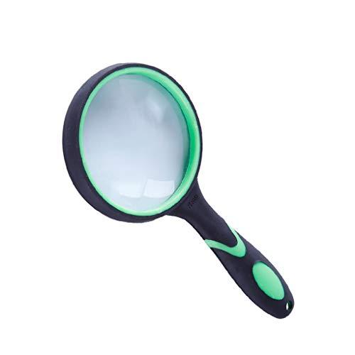 BIlinli Verde 10 Veces Portátil Portátil Lectura de Alta definición Lupa Lente de Cristal Ojo Lupa Libro de Lectura Mapas Lupa de periódico