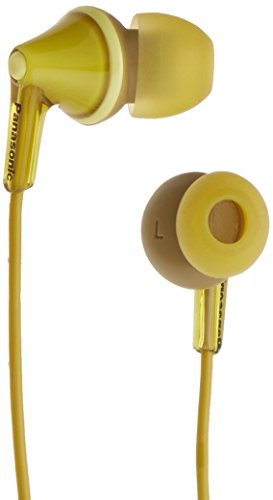 Panasonic RP-HJE125E-Y Ergofit In Ear Wired Earphones with Powerful Sound,...