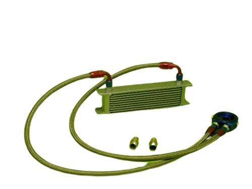 Burstflow Kit de reacondicionamiento universal para radiador de aceite, 10 filas AN10