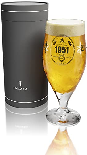 70th Birthday Gifts for Men - Limited Edition 1951 Premium Quality Beer Glass (1 Pint / 580ml)