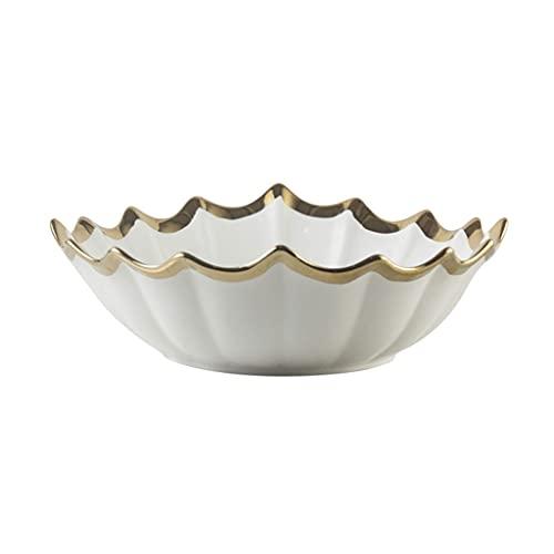 Creative Ceramic Fruit Bowl Modern Fruit Placa Bandeja de Almacenamiento Fácil de Limpiar Decoración para el hogar