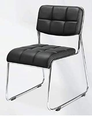 Nilkamal Visitor Chair Contract 02 Stainless Steel Base (Black) Set of 2 Pcs