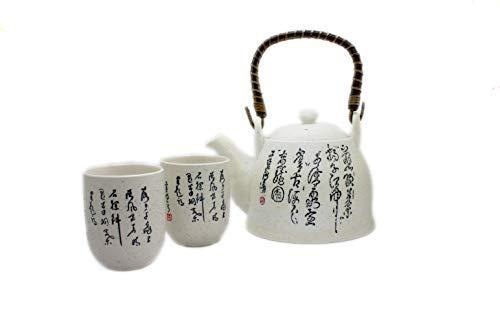 Tang cinese teiera e 2 tazza di tè Set con infusore - stile B - Bianco