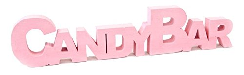 Lettere Candy Bar 27 cm, rosa