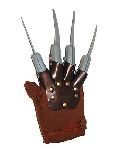 Halloweenia - Kostüm Accessoires Zubehör, Freddy Krüger Handschuhe, Nightmare,Gloves, perfekt für Halloween Karneval und Fasching, Braun