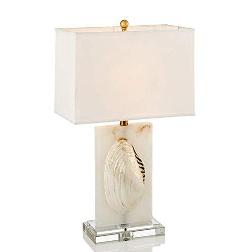 LTAYZ Lámpara Escritorio Cáscara Creativa Cristal de mármol lámpara de Mesa Decorativa Lujo Moderno Minimalista led cálido salón Dormitorio Hotel Escritorio Oficina 35 * 22 * ?68 cm