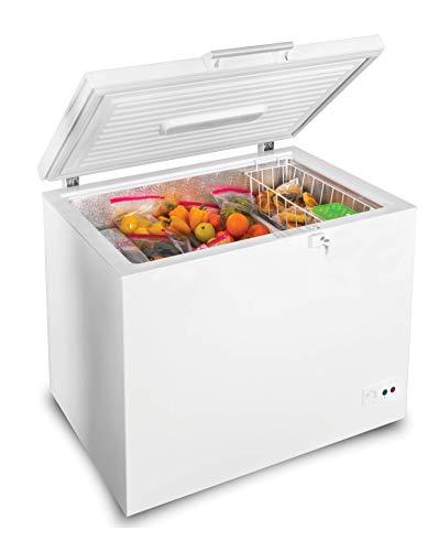Simfer Gefriertruhe freistehend CS3320 | 295 L | Tiefkühltruhe | Dual-Modus Kühlschrank oder Gefrierschrank | 264 kWh/Jahr | LED-Beleuchtung | Türschloss | geringer Energieverbrauch