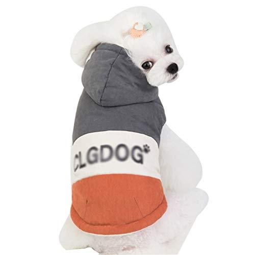 YiiJee Hundejacke, Sehr Warm für Winter und Kaltes Wetter, extraweiche, Winddichte Hundeweste Hundekleidung Hundekostüm Mantel Kostüm Hundebekleidung Haustierkleidung Welpenmantel Wintermantel Grau M