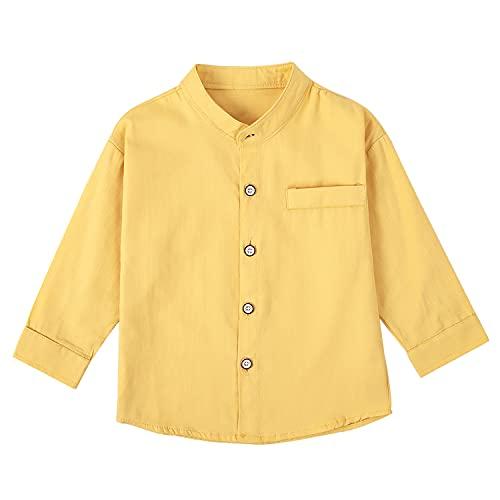 어린이 토들러 베이비 보이 의류 롱 슬리브 라펠 버튼 다운 셔츠 탑스 리틀 보이즈 캐주얼 셔츠 2-7년
