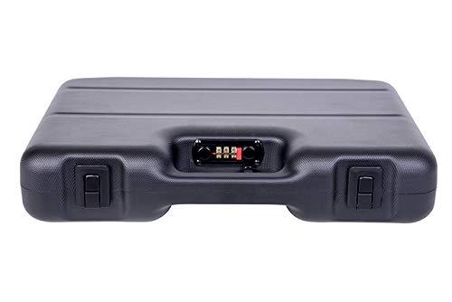 GSG Pistolen-/Kurzwaffenkoffer m. Zahlenschloss aus Stahl 38x26x7,5 ABS Kunststoff doppelwandig IATA Zulassung für Flugzeugreisen