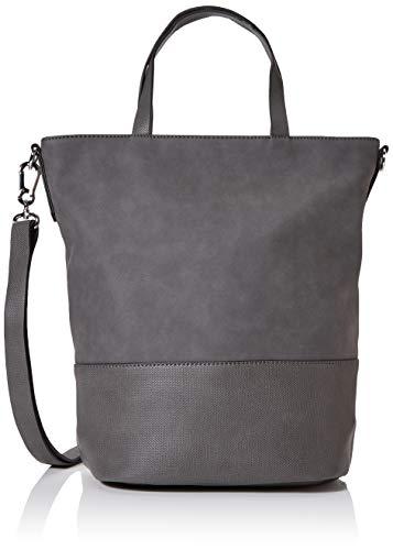 Esprit Accessoires Damen Vivien Tote Henkeltasche, Grau (Dark Grey), 18x26x39 cm