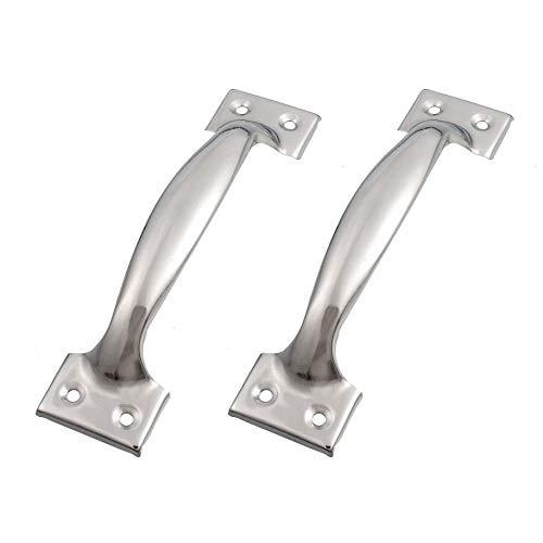 TüRklinke 2 X-Silber-Ton-Edelstahl-Pull Griffe Griffe 6' for Fenster Türen Turschnalle Aussentur