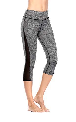 Eono Essentials Damen Yogahose Capri Small grau