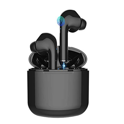 Bluetooth Wireless Earbuds 5.0 Magnetic Earphones Lightweight Ear Buds Mic Stereo in-Ear Headphones Sports Buds IPX5 Waterproof Hi-Fi Sound Charging Case Compatible Android Samsung iPhone iOS
