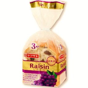 ヤマザキ レーズンゴールド 3枚切り×4斤セット (小型)山崎製パン横浜工場製造品