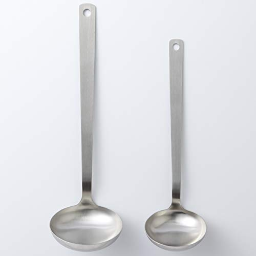 無印良品ステンレスお玉・小約幅7.5×長さ25.5cm、柄20cm