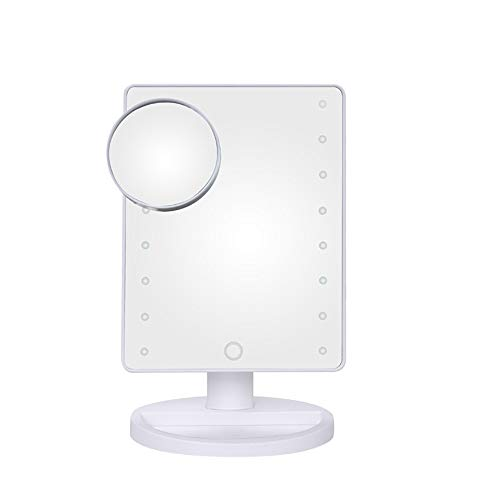 HD LED desktop light Emitting spiegel touch sensor 180 ° voor en achter draaispiegel